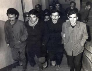 """Halil Çelimli, Yusuf Aslan, Mustafa Akgül, İrfan Uçar, Taylan Özgür, arkada """"Foto"""" Coşkun Eroğlu"""