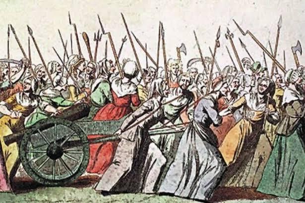 05 Ekim 1789 – Parisli kadınlar Versailles'eyürüdü